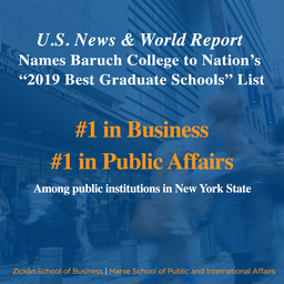 "US News and World Report Names Baruch to ""2019 Best Graduate Schools"" List"