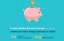 "Forbes Names Baruch among America's ""Best Value Colleges 2018"""